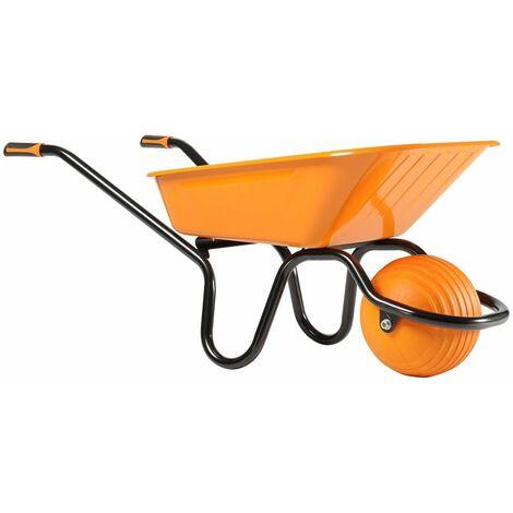 Brouette tout-terrain H'Ball Roue sphérique increvable 100 L Haemmerlin -305570000 - - - Orange/Noir