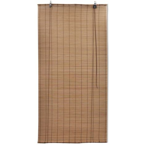 Brown Bamboo Roller Blinds 120 x 160 cm QAH08689
