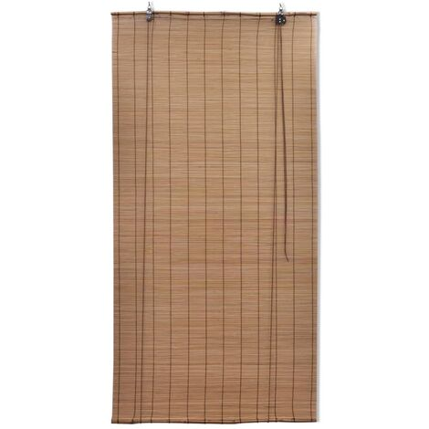Brown Bamboo Roller Blinds 120 x 220 cm QAH08690