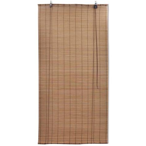 Brown Bamboo Roller Blinds 140 x 160 cm QAH08691