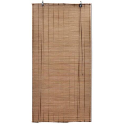 Brown Bamboo Roller Blinds 80 x 160 cm QAH08687