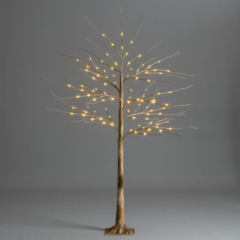 Brown Christmas Birch Tree with LED Lights