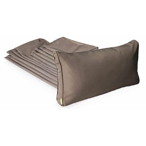 Brown cushion cover set for Napoli garden set - complete set