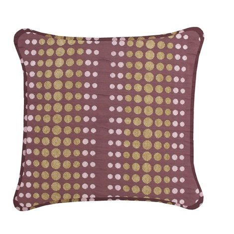 Brown Cushion Moss Green Dots Retro Style For Bed Sofa Couch B-10