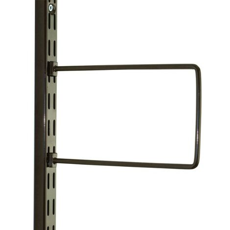 """main image of """"Brown Flexi Bookend 250mm x 150mm - Twin Slot Shelving Pair"""""""