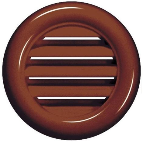 """main image of """"Brown Round Joinery Door Air Vent Grille Woodwork Furniture 40mm Diameter Hole"""""""