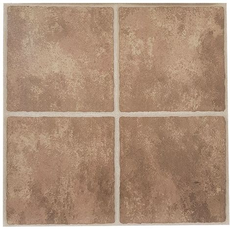 Brown Stone Effect FLOOR TILES PACK OF 1 (4 TILES)