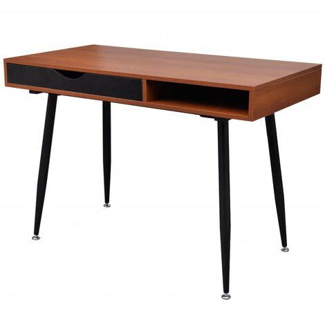 Brown Workstation Computer Desk Laptop Table