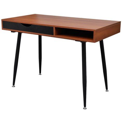 Brown Workstation Computer Desk Laptop Table - Brown