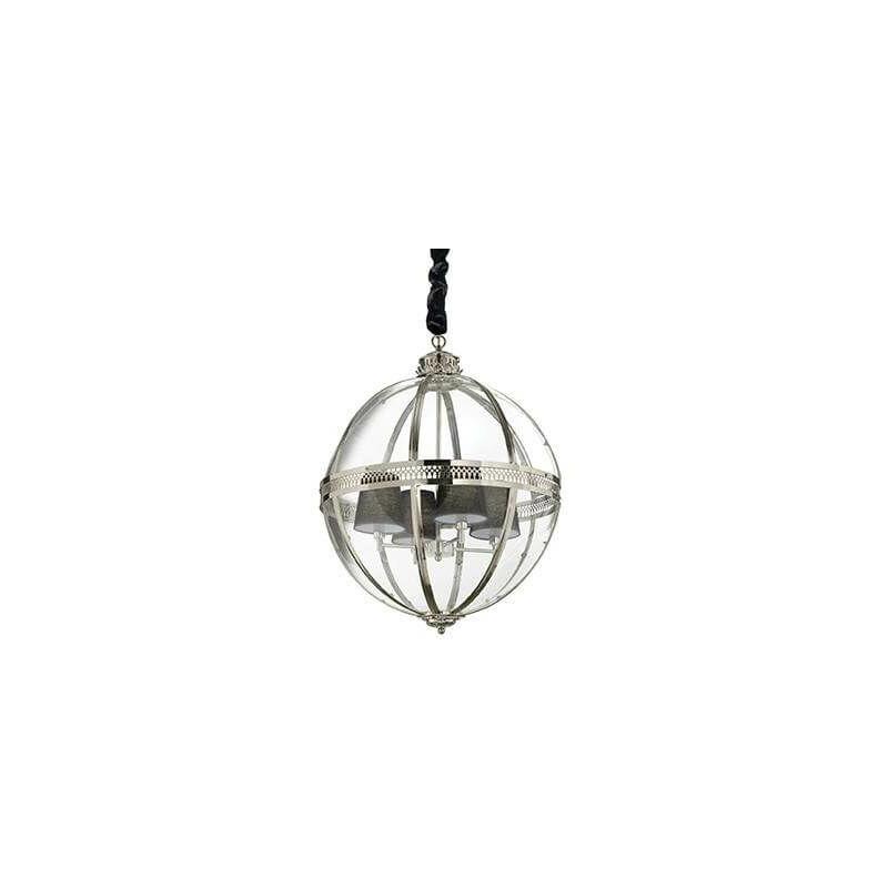 01-ideal Lux - Brown WORLD Pendelleuchte 4 Glühbirnen