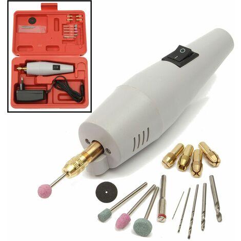 Broyeur électrique Mini perceuse dremel ensemble de meulage 12V DC Dremel accessoires outil pour fraisage polissage forage coupe gravure
