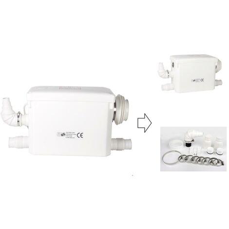 Broyeur Sanitaire pour wc suspendu 400W - 3 en 1 WC + Lavabo, douche