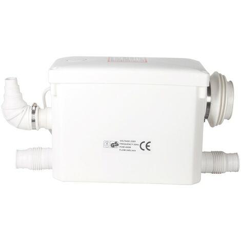 Broyeur Sanitaire Silencieux 400A pour WC à suspension Murale, 2 Entrées Supplémentaires pour le Raccord de Tous types d'appareils Sanitaires