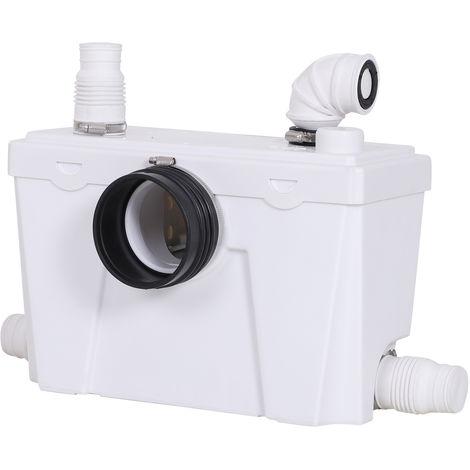 Broyeur sanitaire WC pompe de relevage 500 W silencieux compact accessoires inclus blanc