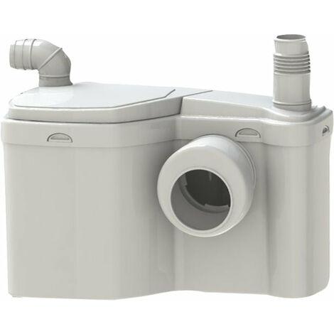 Broyeur WATERMATIC haut debit adaptable sur cuvette sortie horizontale relevage 4m horizontal 80m+ un wc et un lave-mains W12P
