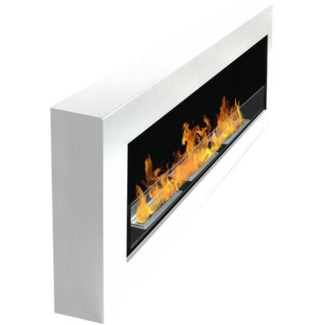 "main image of ""BRT - Eydis Glass 120 cm - Chimenea de Bioetanol (6,3 kw), color blanco"""