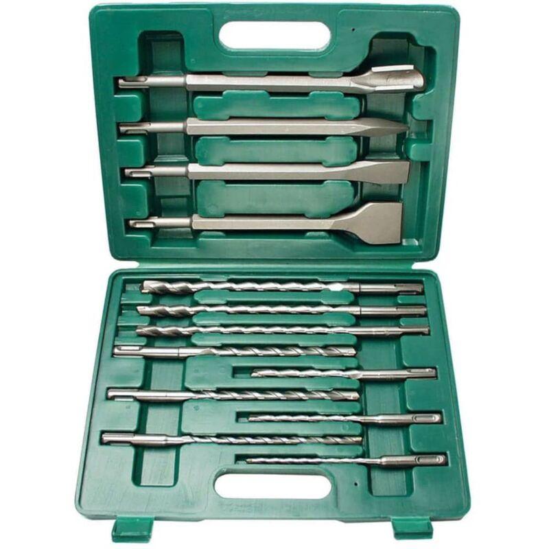 Image of 13 Piece Drill Bit and Chisel Set SDS-Plus 12588 - Brüder Mannesmann