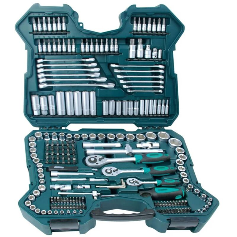 Image of 215 Piece Ratcheting Socket Spanner Set 98430 - Brüder Mannesmann