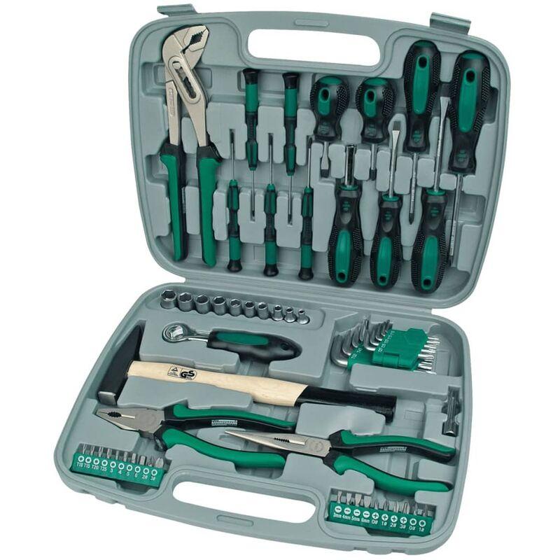 Image of 57 Piece Tool Set Green 29057 - Brüder Mannesmann
