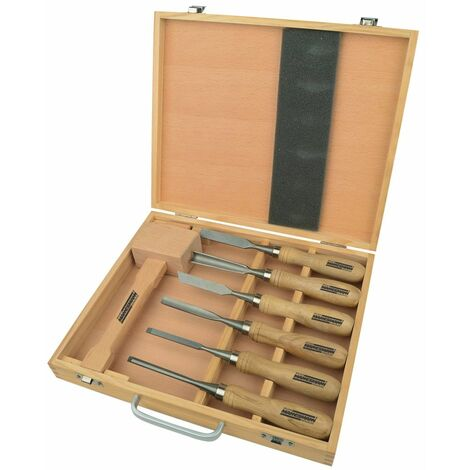 Brüder Mannesmann 7 Piece Wood Carving Tool Set 66107