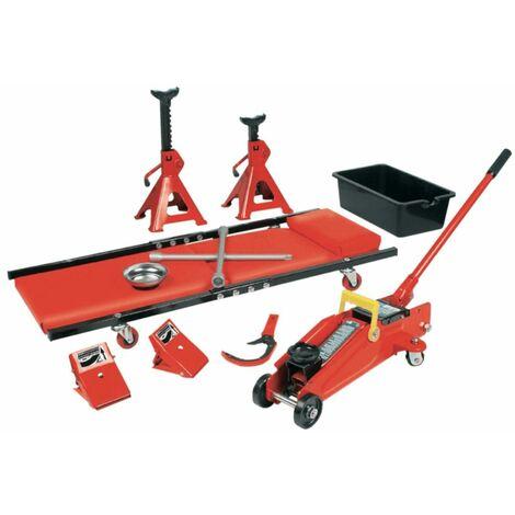 Brüder Mannesmann Set de herramientas de taller 10 piezas rojo 00350