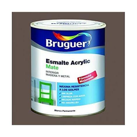 Bruguer Esmalte acrilico mate Marrón 750 Ml