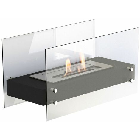 "main image of ""Brûleur éthanol de table Falun Noir cm 35x60x30 GLOW-FIRE FALUN-NERO"""