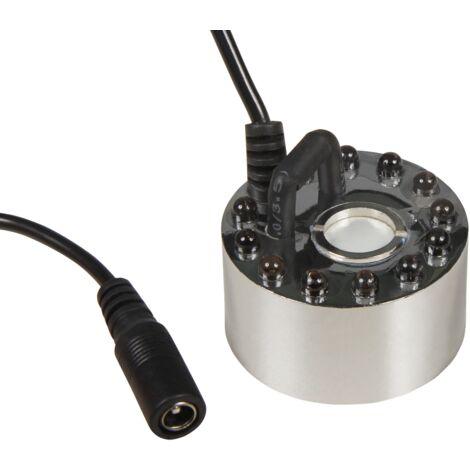 Brumisateur / atomiseur ultrasonique McShine '' LED-12 '' avec 12 LED, changeur de couleur