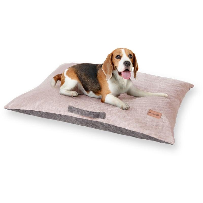 Tapis de lit pour chien | lavable | orthopédique | antidérapant | respirant | Mousse mémoire | Taille M (80 x 10 x 55 cm)