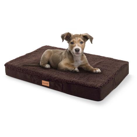 Brunolie Cojín para perro Balu   lavable   ortopédico   antideslizante   espuma de memoria transpirable   tamaño S (72 x 8 x 50 cm)