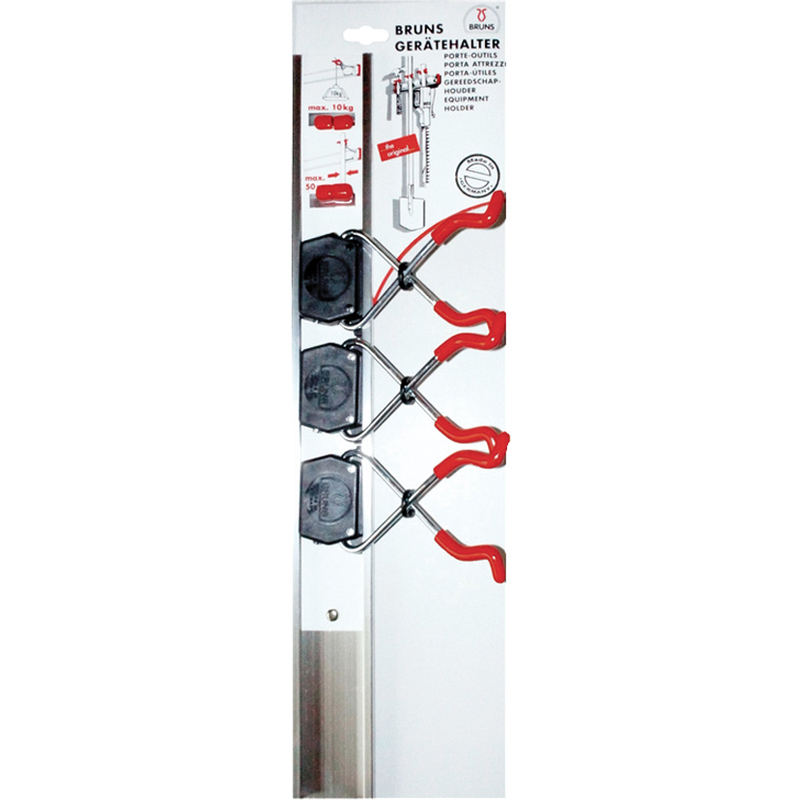 2 x 3er Gerätehalter Schaufel... Wandhalterung Halterung für Besen