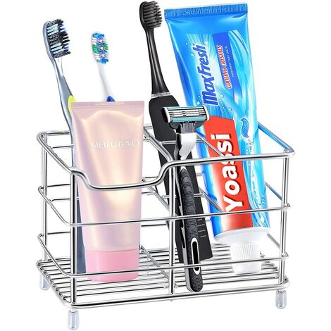 Brush Holder & agrave; Teeth, Brush Holder & agrave; Anti-Rust Stainless Steel Multipurpose Teeth for Bathroom