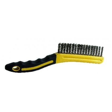 Brush with ergonomic handle
