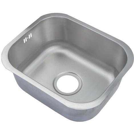 Brushed 304 Grade Stainless Steel Undermount Kitchen Sink Bowl 435x360mm (A12 bs)