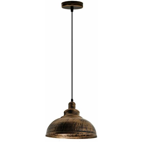 Brushed Copper Loft Industrial Chandelier Ceiling Light Pendant Lamp
