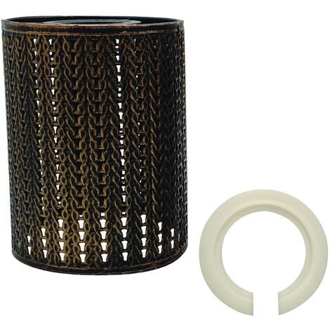 Brushed copper New style Vintage metal wire cage lamp shade