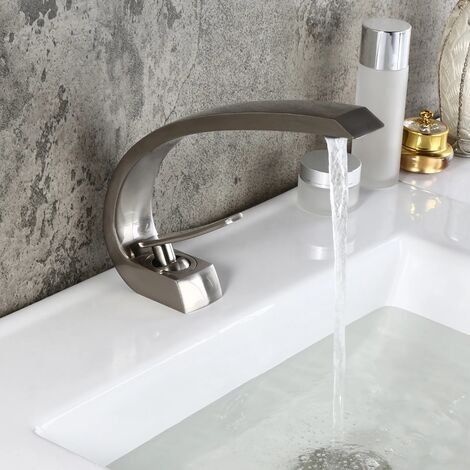 "main image of ""Black brass basin mixer tap - Skyros"""