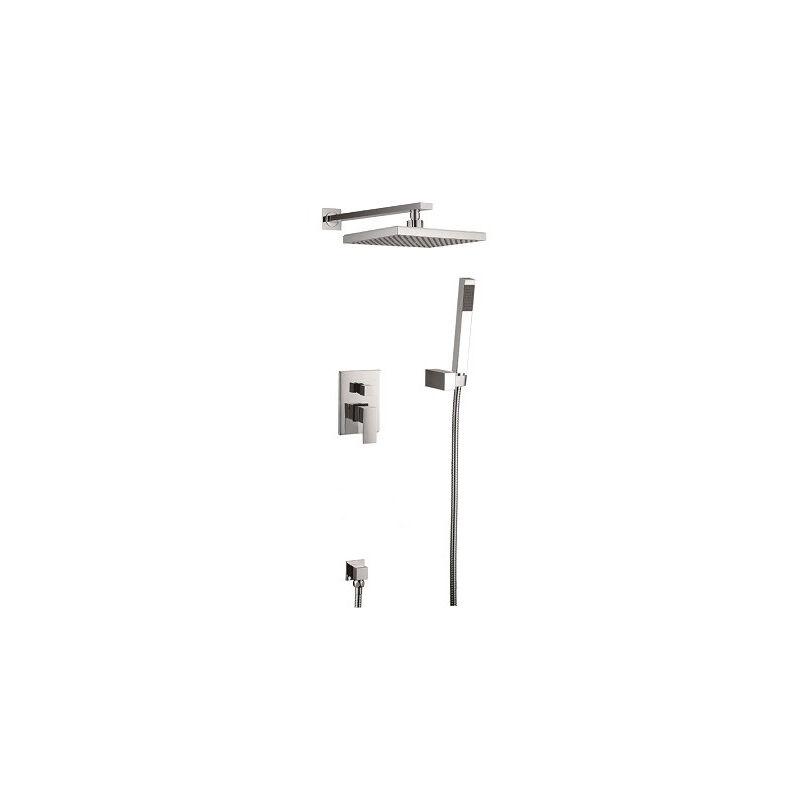 Kroos ® - Brushed nickel concealed shower mixer composition - Alnair