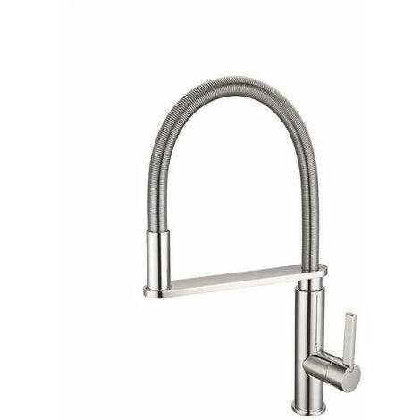 "main image of ""Brushed nickel countertop sink mixer tap - Morelia"""