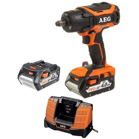 Brushless bolting machine AEG 18V BSS 18C12ZBL-402C - 2 batteries 4,0Ah - 1 charger