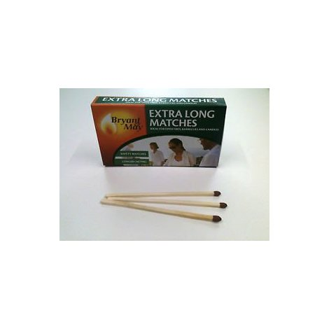 Bryant & May Traditional Extra Long Safety Matches,Ideal For Fires Bbq'S Etc