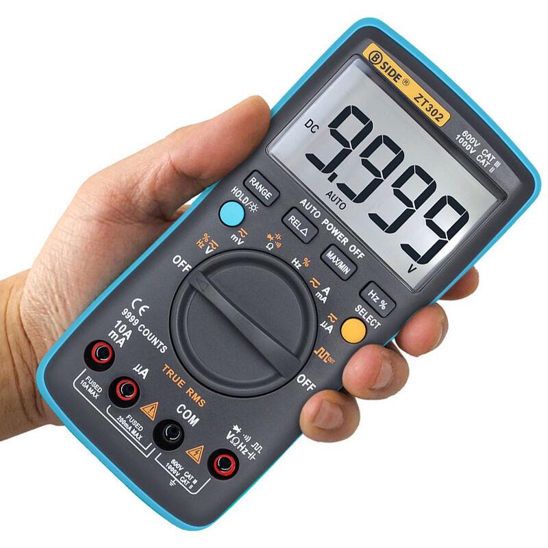 Image of Digital Multimeter AC DC Voltage Current 9999 Counts - Bside