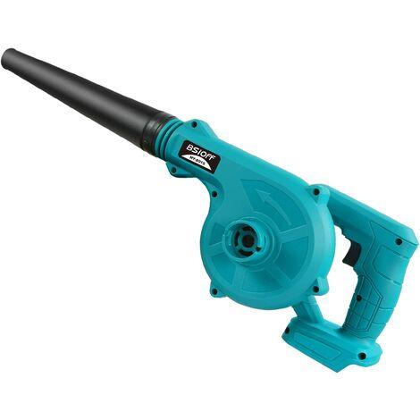 Bsioff Souffleurs de Feuilles/Aspirateur à Feuilles électrique aspirateur 2-en-1 Lithium 18 V 18000 TR/Min Compatible avec makita 18V BL1850B BL1860B Batterie (sans Batterie et Chargeur) Bleu