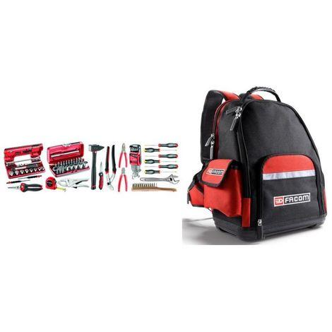 BSL30.M510A Sélection particuliers/enseignement technique 74 outils métiers plus sac à dos textile