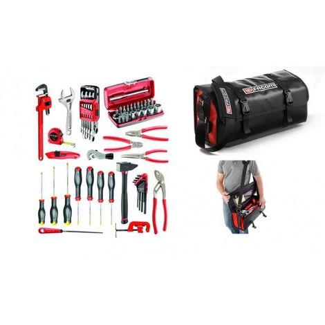 BSLMBC.M200A Sélection plombier 67 outils plus sacoche textile/PVC 1013.91