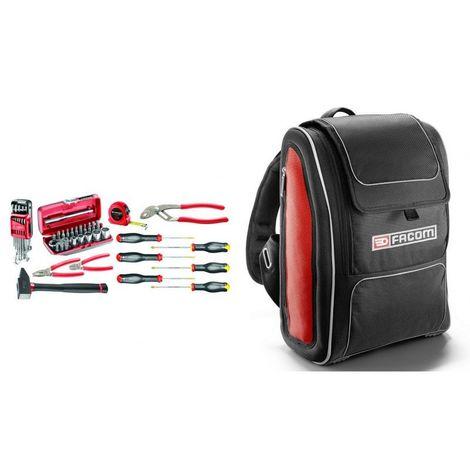 BSMCB.M500A Sélection de 52 outils métiers pour particuliers et enseignement technique plus sac à dos textile