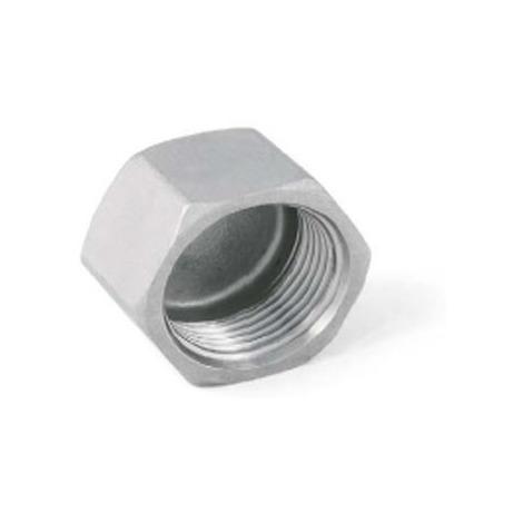 "BSP 1-1/4"" Female Hexagon Blank Cap / Cup - T316 (A4) Marine Grade Stainless Steel"