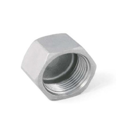 "BSP 1"" Female Hexagon Blank Cap / Cup - T316 (A4) Marine Grade Stainless Steel"