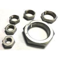 BSP 3/4 Inch Hexagon Lock Nut / Back Nut T316 (A4) Marine Grade Stainless Steel - Taper Thread