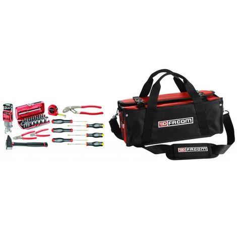 BSSMB.M500A Sélection de 52 outils métiers pour particuliers et enseignement technique plus sacoche textile 408.01